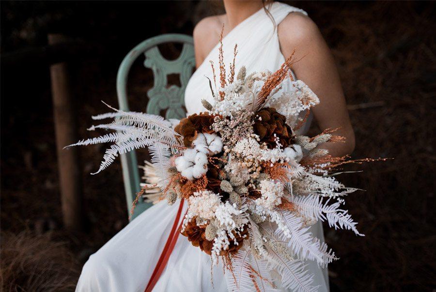UNA NOVIA DE INSPIRACIÓN GRIEGA ramos-novia