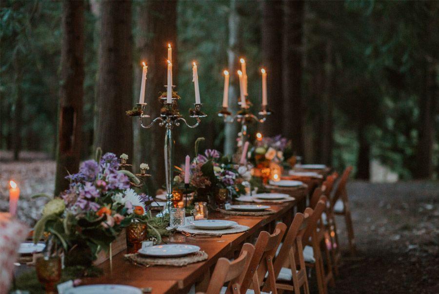 BODA MÁGICA EN EL BOSQUE mesa-boda-rustica