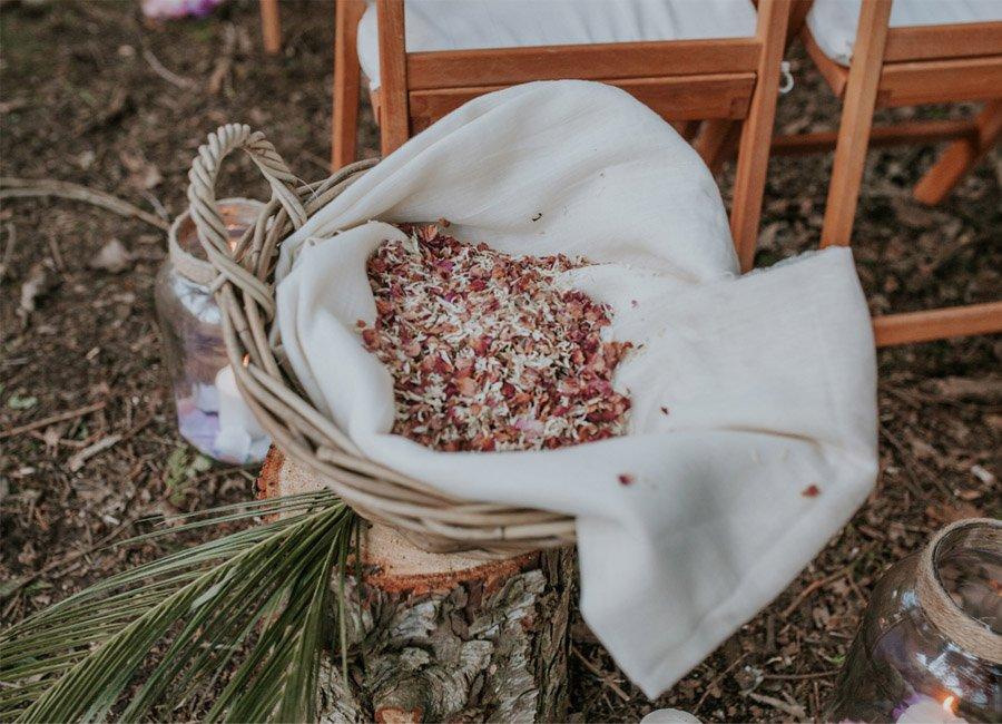 BODA MÁGICA EN EL BOSQUE petalos-boda