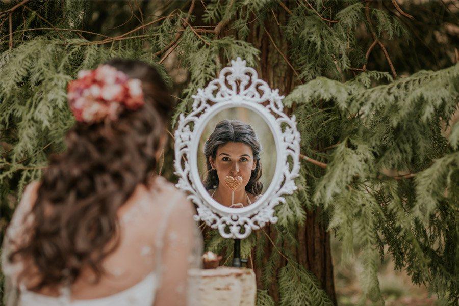 BODA MÁGICA EN EL BOSQUE tocado-novia