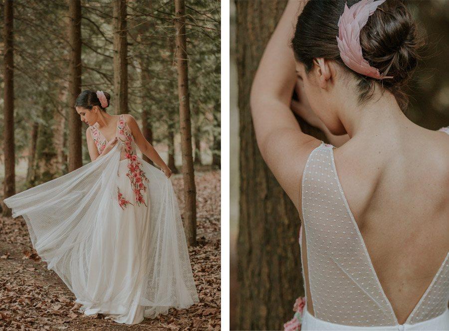 BODA MÁGICA EN EL BOSQUE vestido-novia