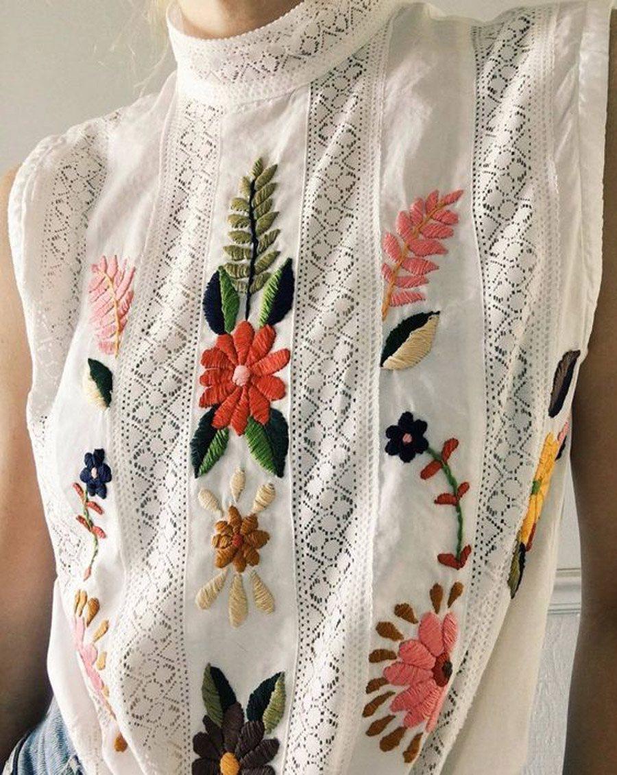 BORDADOS DE FLORES PARA INVITADAS blusa-bordados