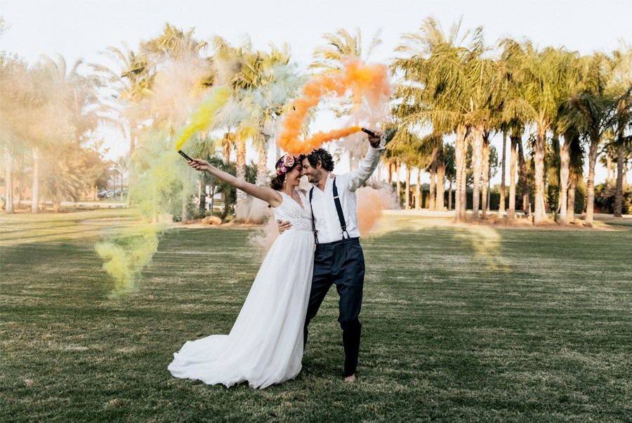MALIBÚ SUNRISE bengalas-humo-boda
