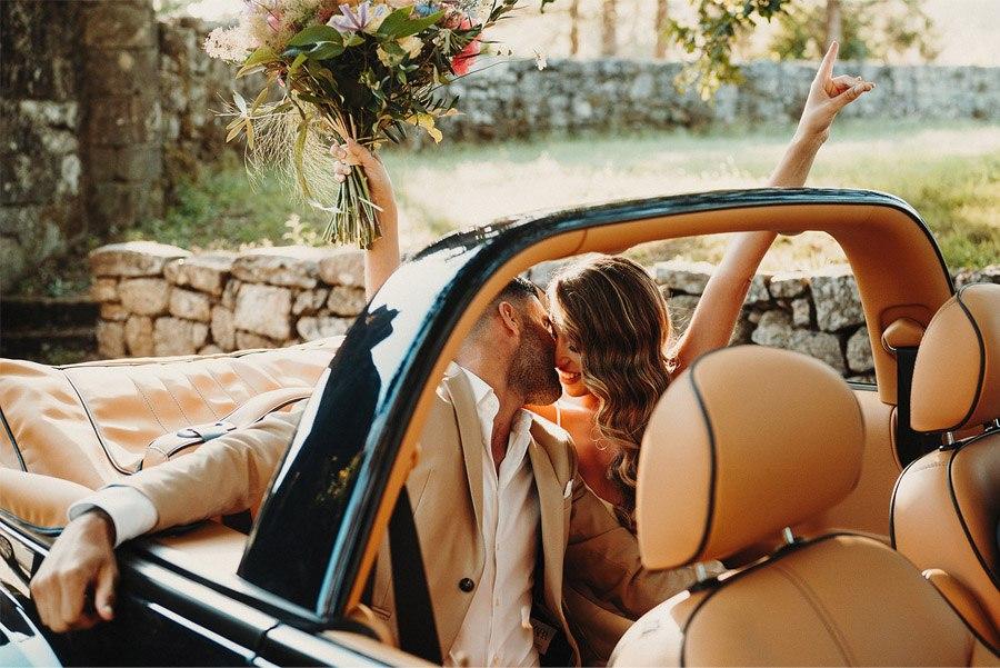 ITALIAN WEDDING coche-novios