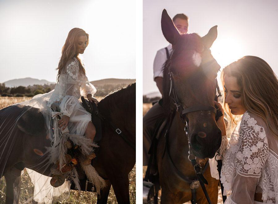 JESSICA & JUAN: WINDS OF LOVE novia-caballo