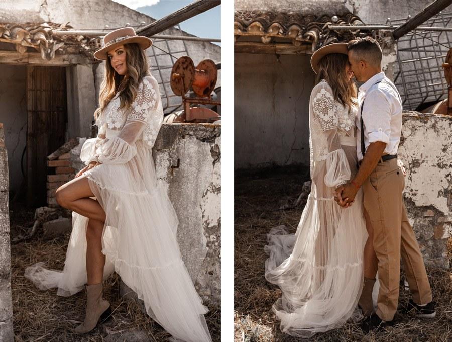JESSICA & JUAN: WINDS OF LOVE novios-boho-chic