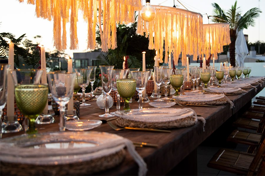 EVER AFTER boda-boho-chic-banquete