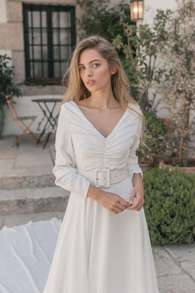 CRUSH, NUEVA COLECCIÓN DE MARIA BARAZA maria-baraza-vestido-novia-683x1024