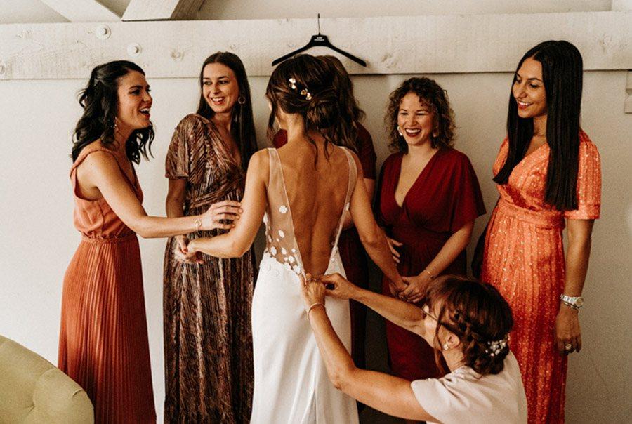 FLORINE & FLORIAN: ROMÁNTICA BODA DE OTOÑO amigas-novia