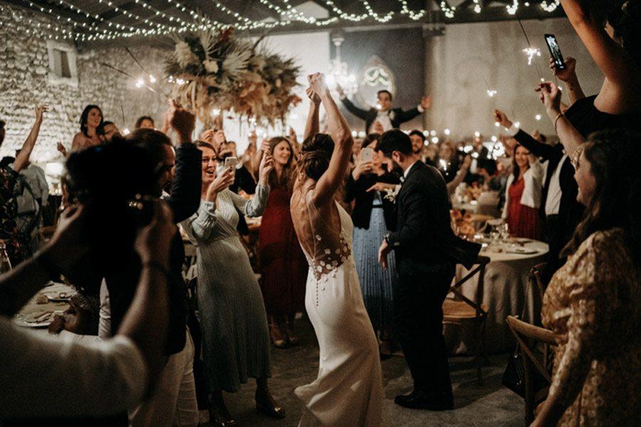 FLORINE & FLORIAN: ROMÁNTICA BODA DE OTOÑO baile-novios