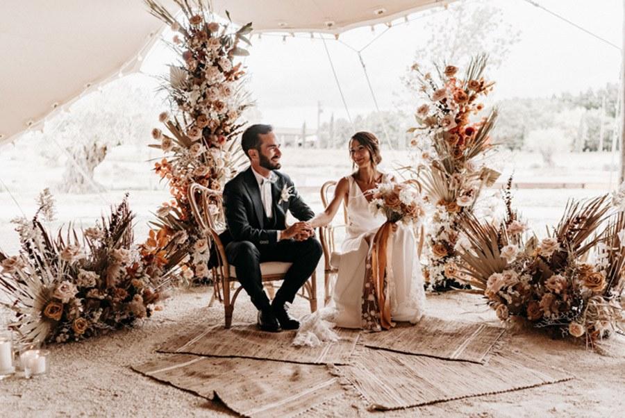 FLORINE & FLORIAN: ROMÁNTICA BODA DE OTOÑO ceremonia-boda-otono