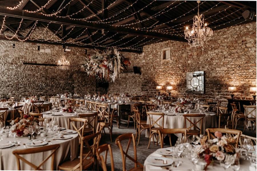 FLORINE & FLORIAN: ROMÁNTICA BODA DE OTOÑO mesas-boda-otono