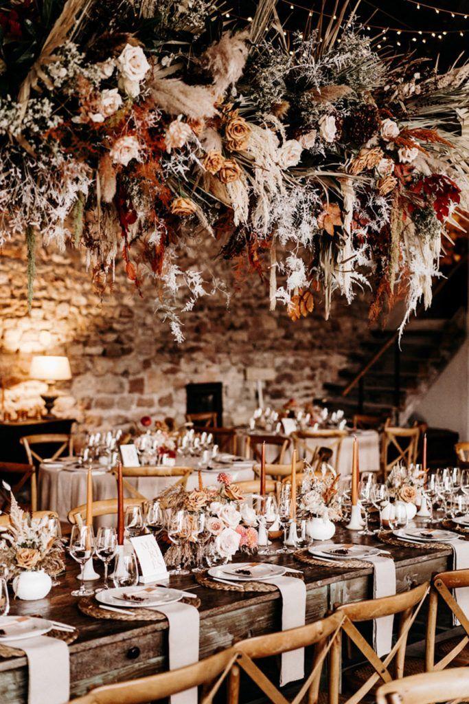 FLORINE & FLORIAN: ROMÁNTICA BODA DE OTOÑO mesas-bodas-de-otono-683x1024