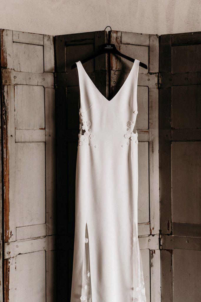 FLORINE & FLORIAN: ROMÁNTICA BODA DE OTOÑO vestido-novia-683x1024