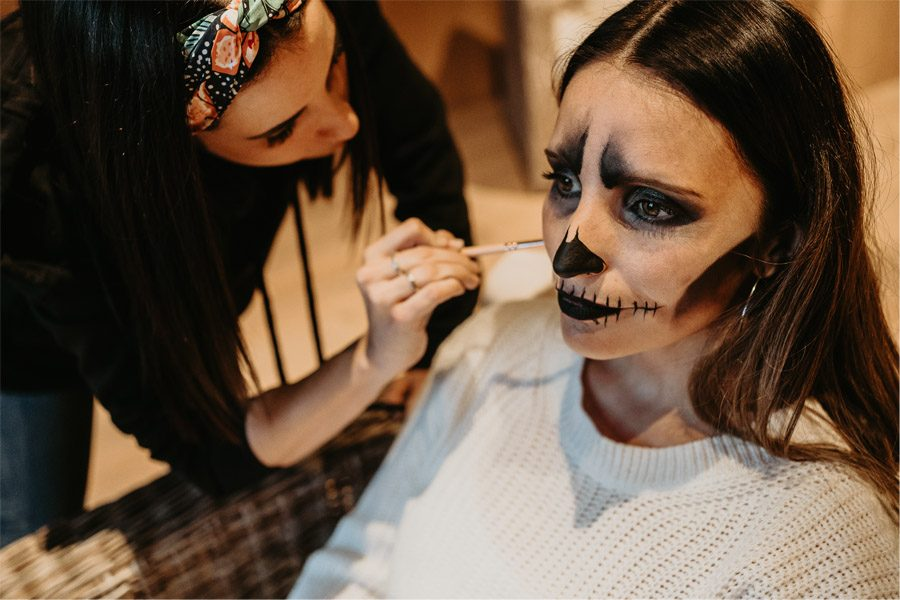 SAMHAIN, VIDA Y MUERTE, AMOR Y DOLOR maquillaje-boda-samhain