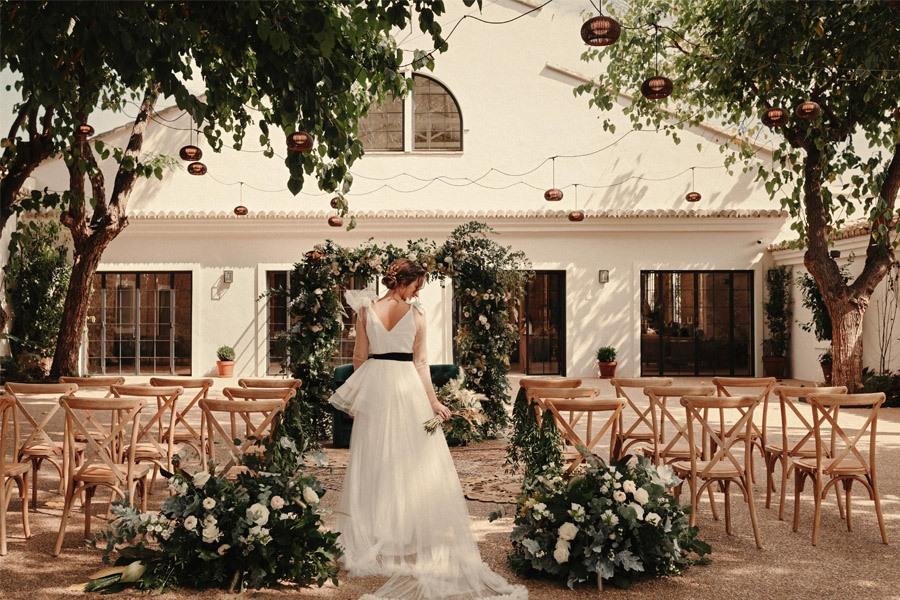 CÓ.MPLICES DE OTOÑO novia-ceremonia