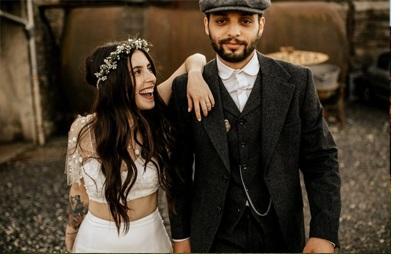 MÉLANIE & THIBAUT: UNA BODA BOHEMIA EN LA REGIÓN DE PARÍS bodas-bohemias