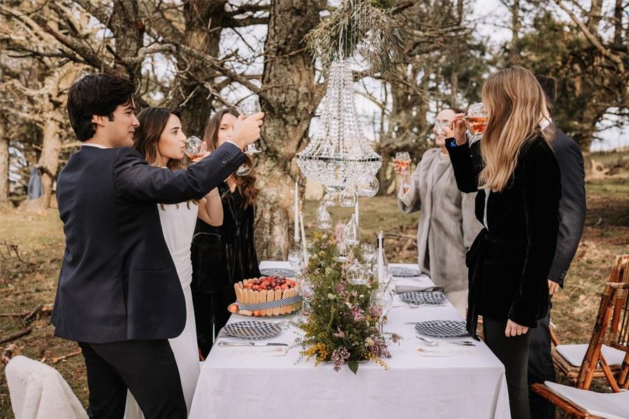 UNA BODA ÍNTIMA EN EL MONTE VASCO boda-brindis