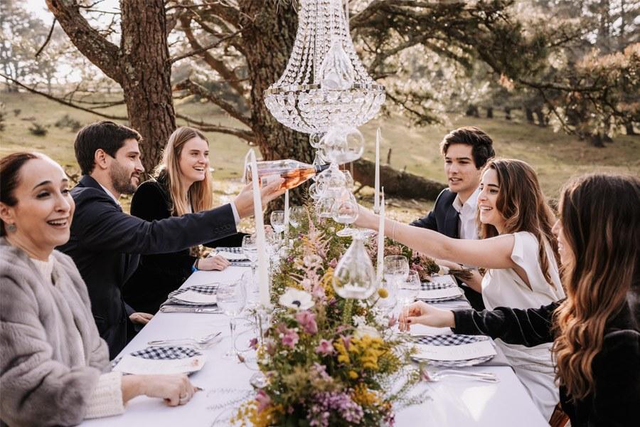 UNA BODA ÍNTIMA EN EL MONTE VASCO brindis-boda-1