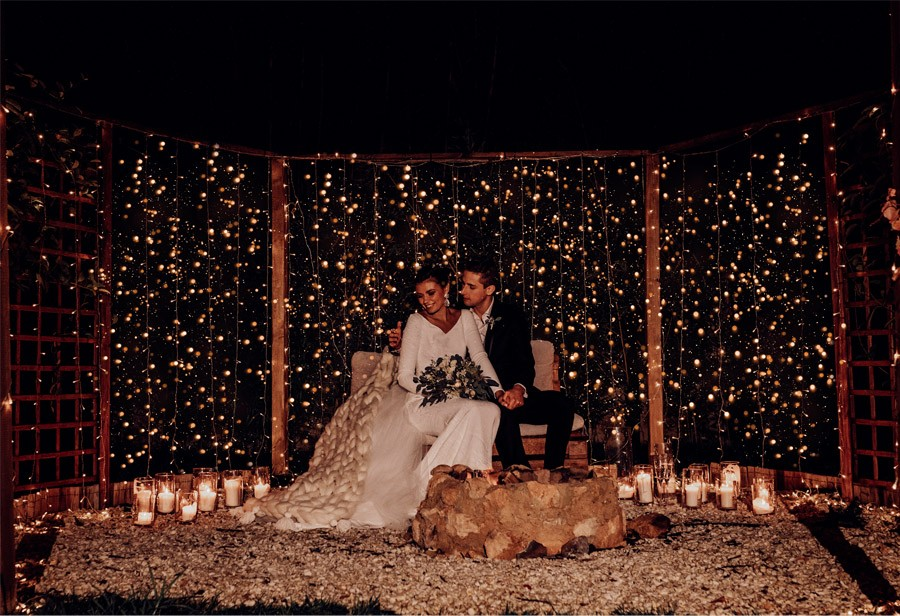 UNA BODA DE INVIERNO EN MALLORCA luces-boda