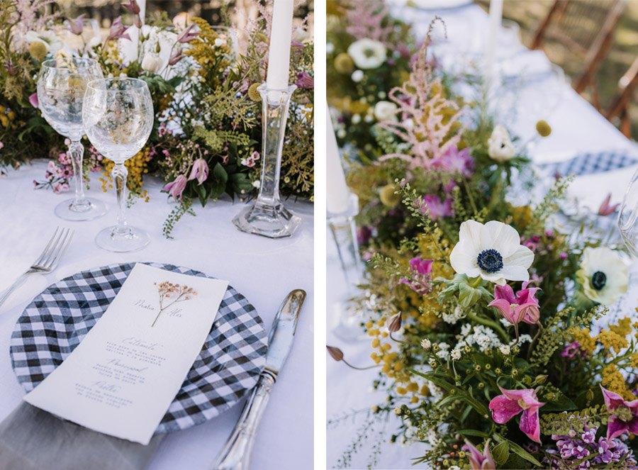 UNA BODA ÍNTIMA EN EL MONTE VASCO mesa-boda-campo