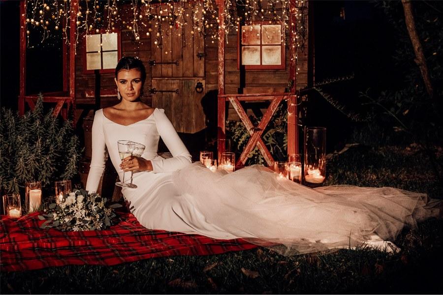UNA BODA DE INVIERNO EN MALLORCA novia