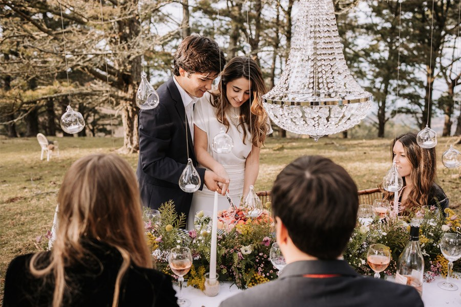 UNA BODA ÍNTIMA EN EL MONTE VASCO pastel-boda-1