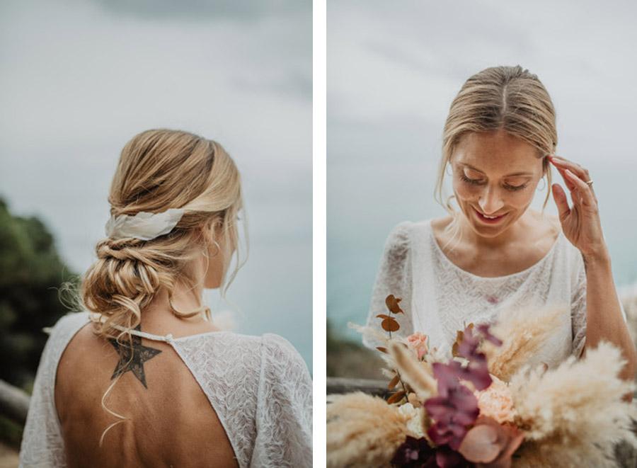 SALACIA, UNA SLOW WEDDING EN LA COSTA MEDITERRÁNEA peinado-novia