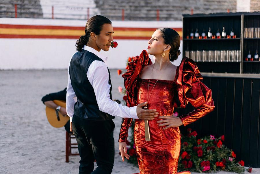 PODERÍO, EL ARTE DE UNA BODA EN EL SUR baile-novios