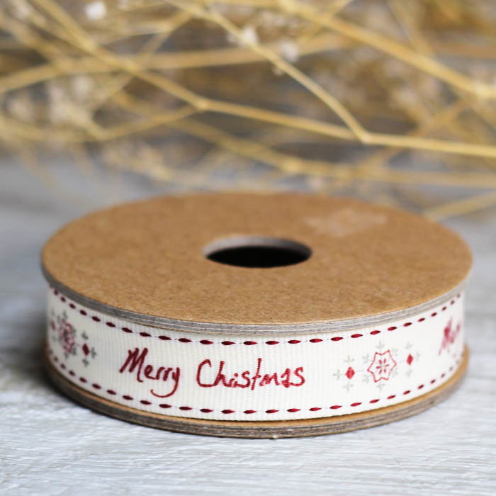Ideas originales para bodas cinta-tela-merry-christmas
