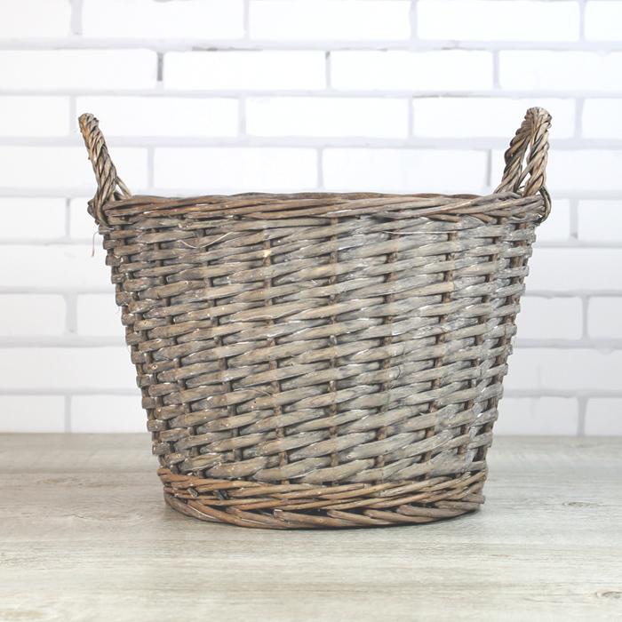 cesta de mimbre redonda una boda original - Como Hacer Cestos De Mimbre