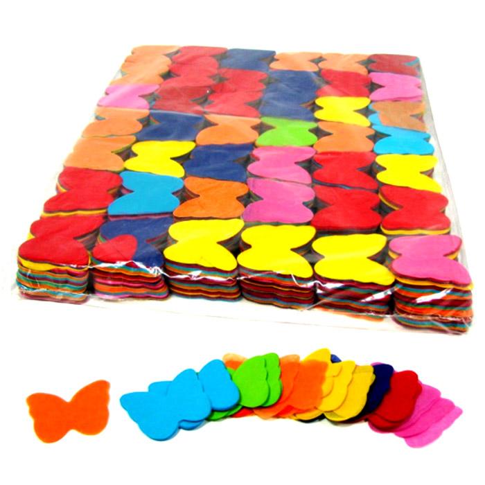 caja de confetti mariposas papel kg cm varios colores disponibles