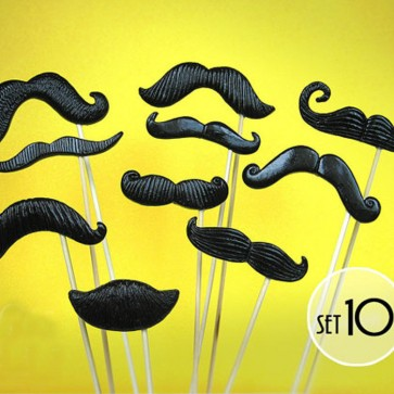 10 moustache negro photocall
