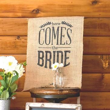 Comprar Banderín Here Comes the Bride