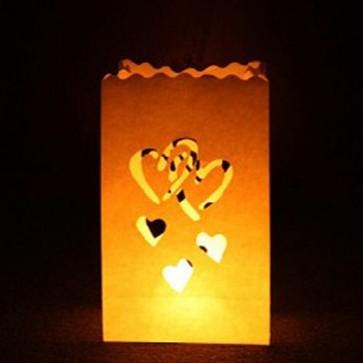Bolsa de luz de corazones (10 ud.)