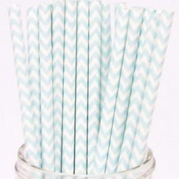 Cañitas rayas azul clarito chevron