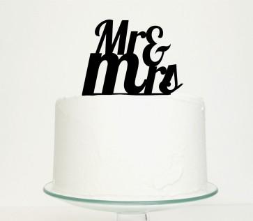 Mr Mrs para pastel