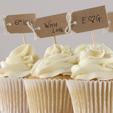 Cake topper craft para Cupcakes
