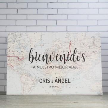 Cartel Bienvenidos boda