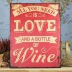 All you need is love and a bottle of wine