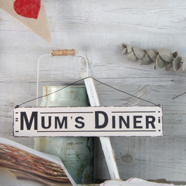 Placa de metal Mum's Dinner