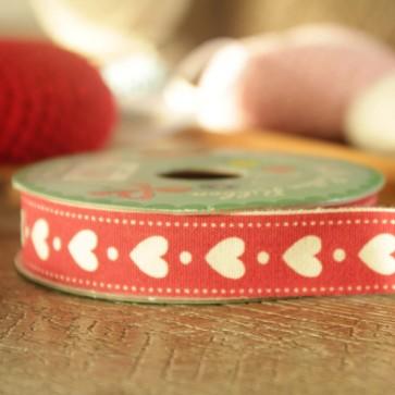 Cinta roja de corazones