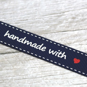 Cinta de tela Handmade with love
