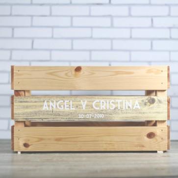 Caja para detalles de boda personalizable