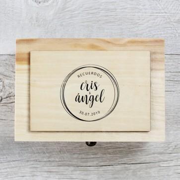 Caja de recuerdos de boda personalizable