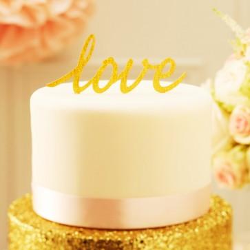 Comprar cake topper love glitter