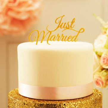 comprar caketopper just married glitter
