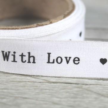 Cinta de tela corazones grises