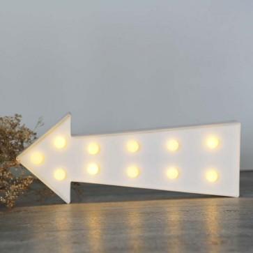 Flecha luminosa blanca