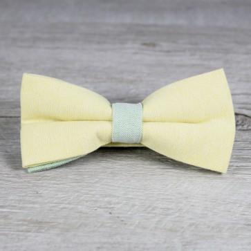 Pajarita de boda amarilla y verde